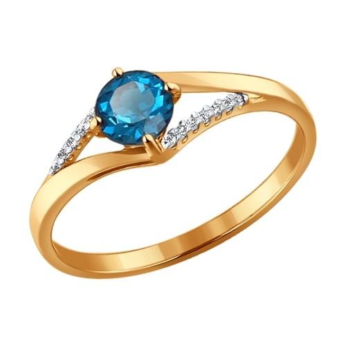Золотое кольцо SOKOLOV арт 651