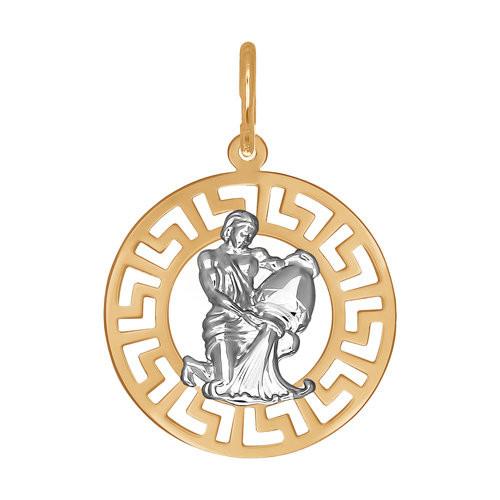 Подвеска «Знак зодиака Водолей» из золота SOKOLOV Арт П-492