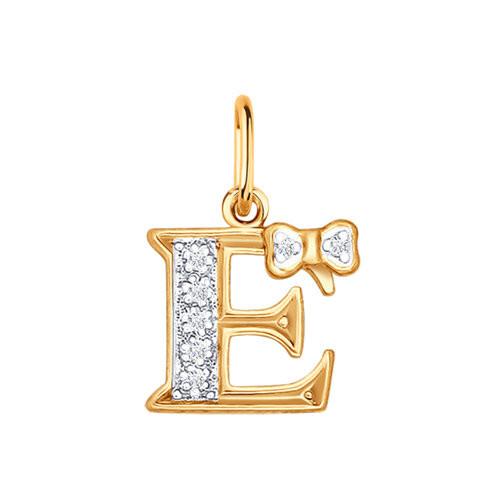 Золотая подвеска-буква «Е» SOKOLOV Арт П-550