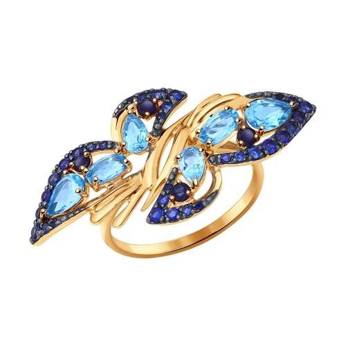 Кольцо из золота с полудрагоценными вставками SOKOLOV арт КЗ-100