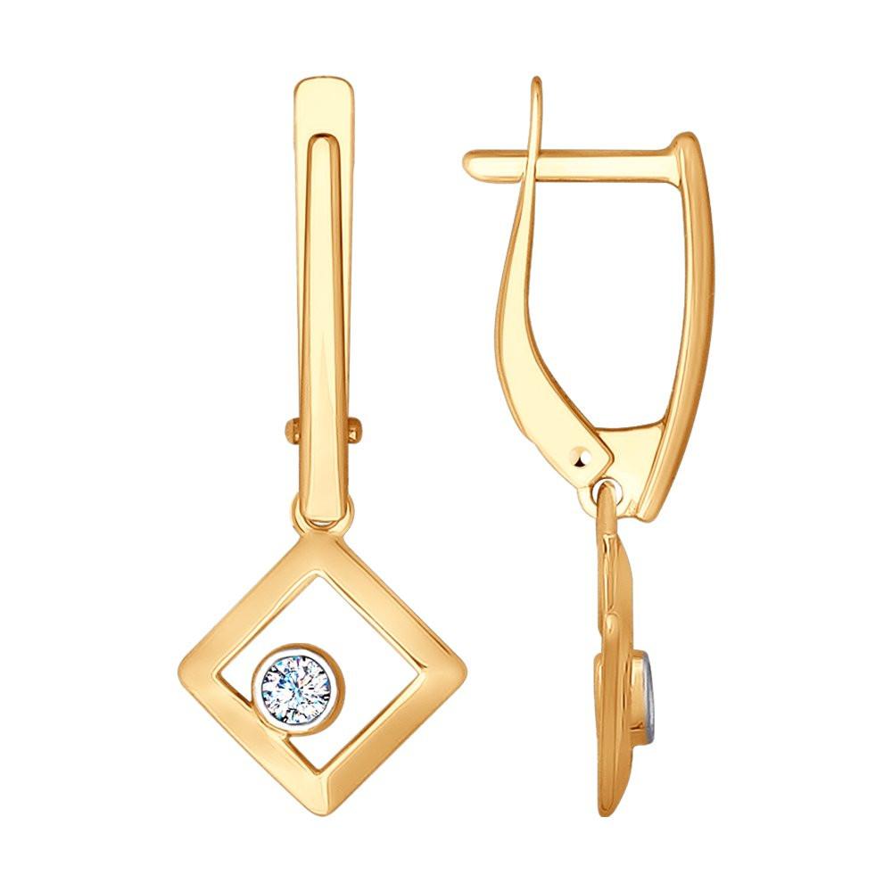 Серьги из золота с фианитами SOKOLOV Арт С-1469