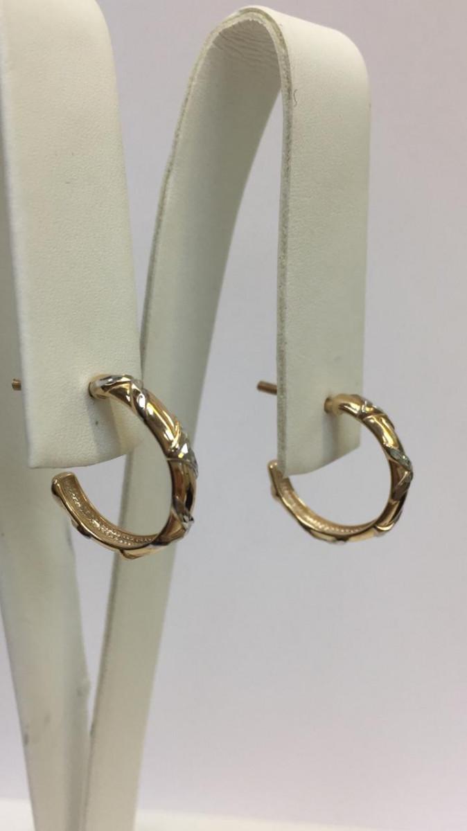 Серьги из золота  Золотые узоры Арт С-1476