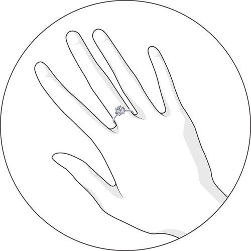 Помолвочное кольцо из серебра с фианитом Арт КС-289