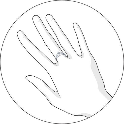 Кольцо из серебра с фианитами Арт КС-312