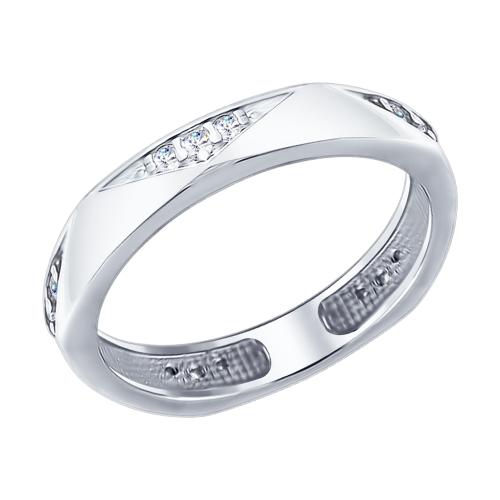 Кольцо из серебра с фианитами Арт КС-323