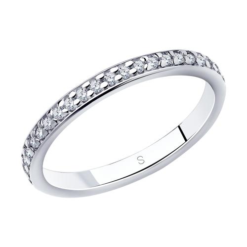 Кольцо из серебра с фианитами Арт КС-326