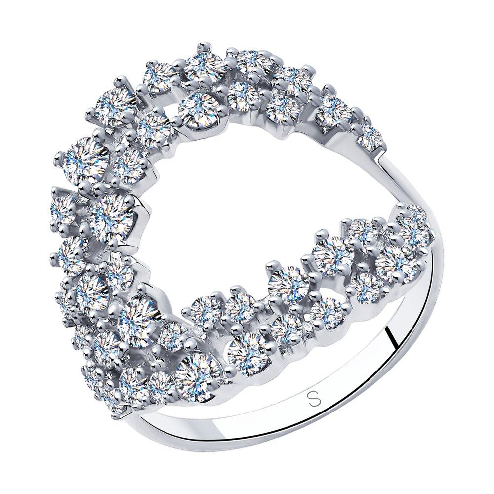 Кольцо из серебра с фианитами Арт КС-355