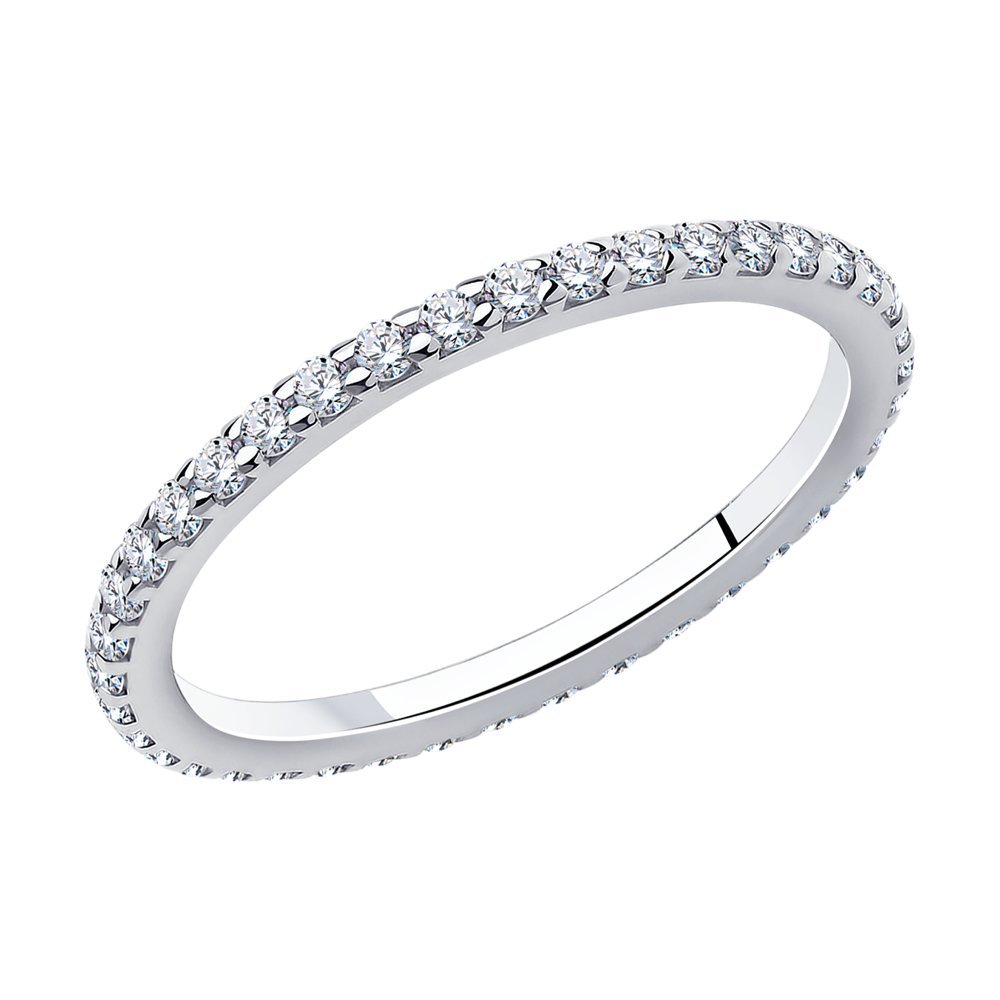 Кольцо из серебра с фианитами Арт КС-357