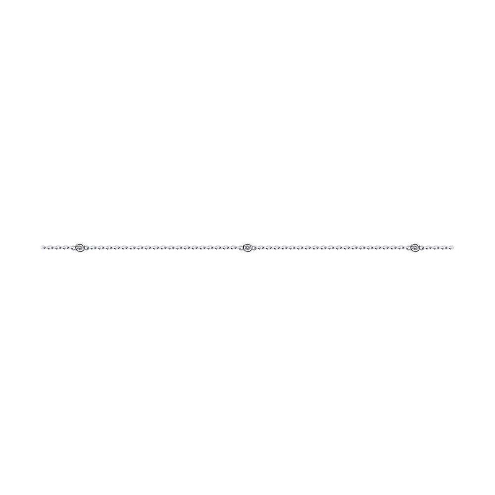 Браслет из серебра с эмалью и фианитами Арт БС-050