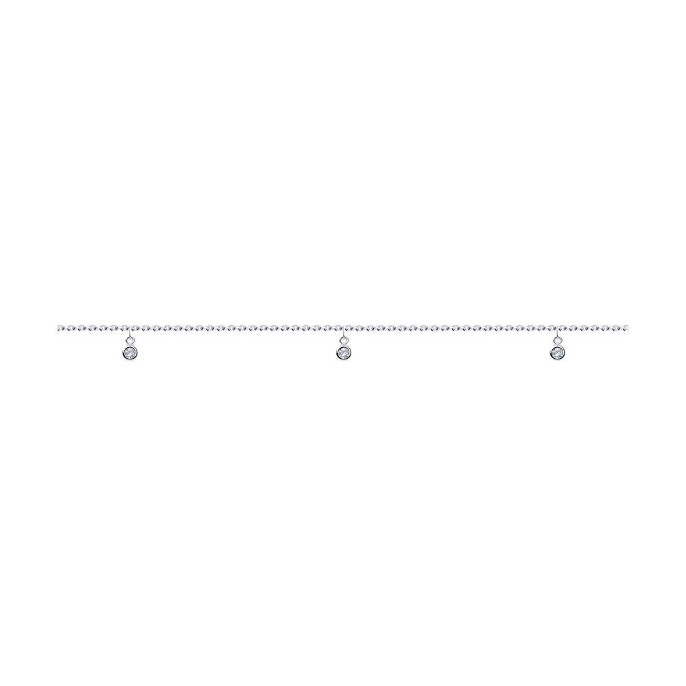 Браслет из серебра с эмалью и фианитами Арт БС-062