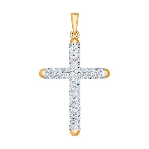 Крест из золота с фианитами SOKOLOV Арт П-630