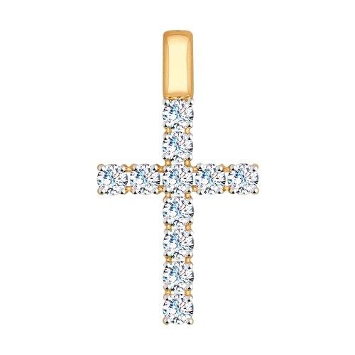 Крест из золота со Swarovski Zirconia SOKOLOV Арт П-631