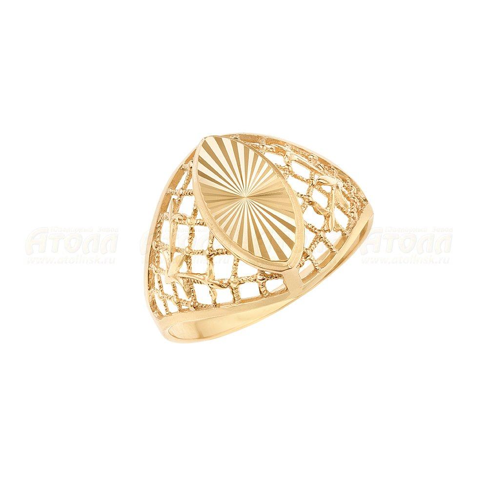 Женское кольцо без вставок Атолл арт КЗ-127