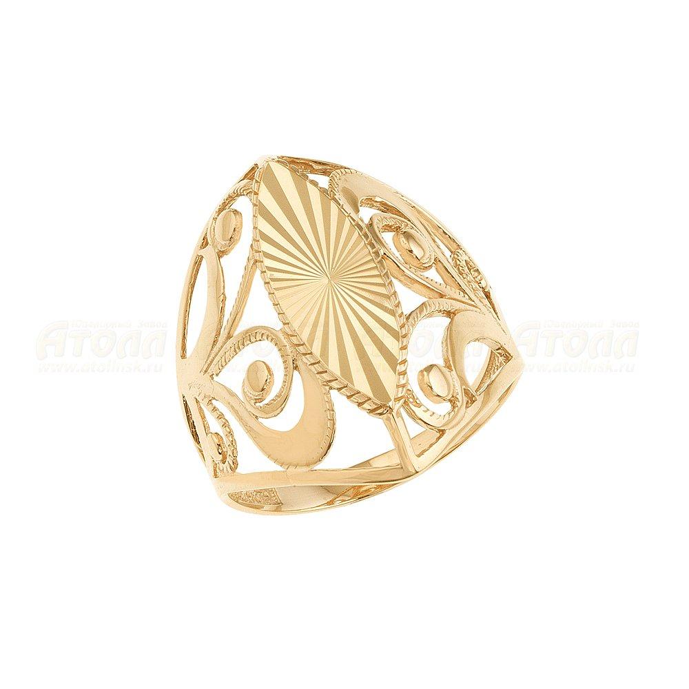 Женское кольцо без вставок Атолл арт КЗ-128