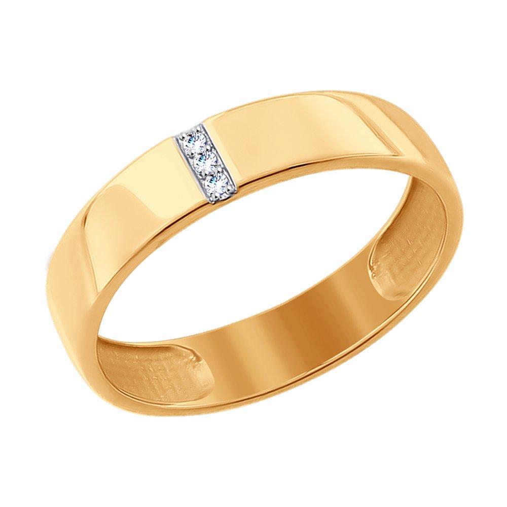 Кольцо из золота с фианитами SOKOLOV Арт К-1764