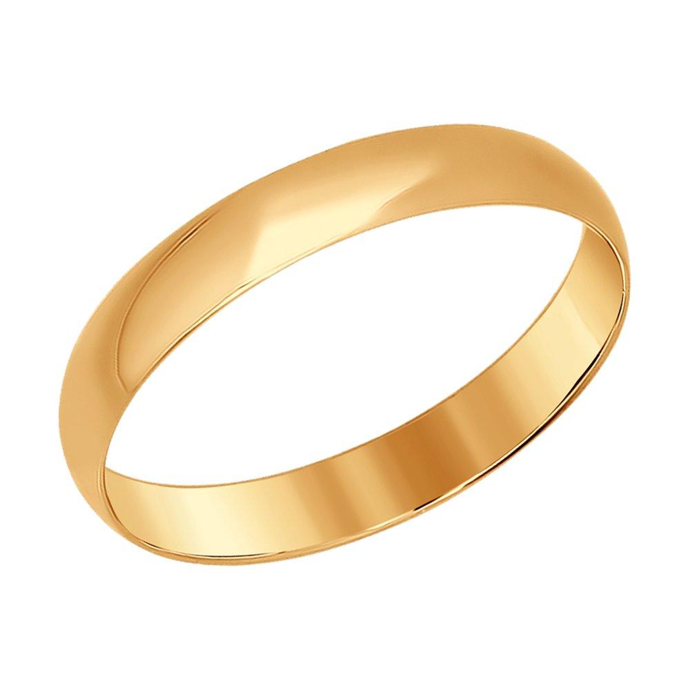 Обручальное кольцо из красного золота SOKOLOV Арт К-1770