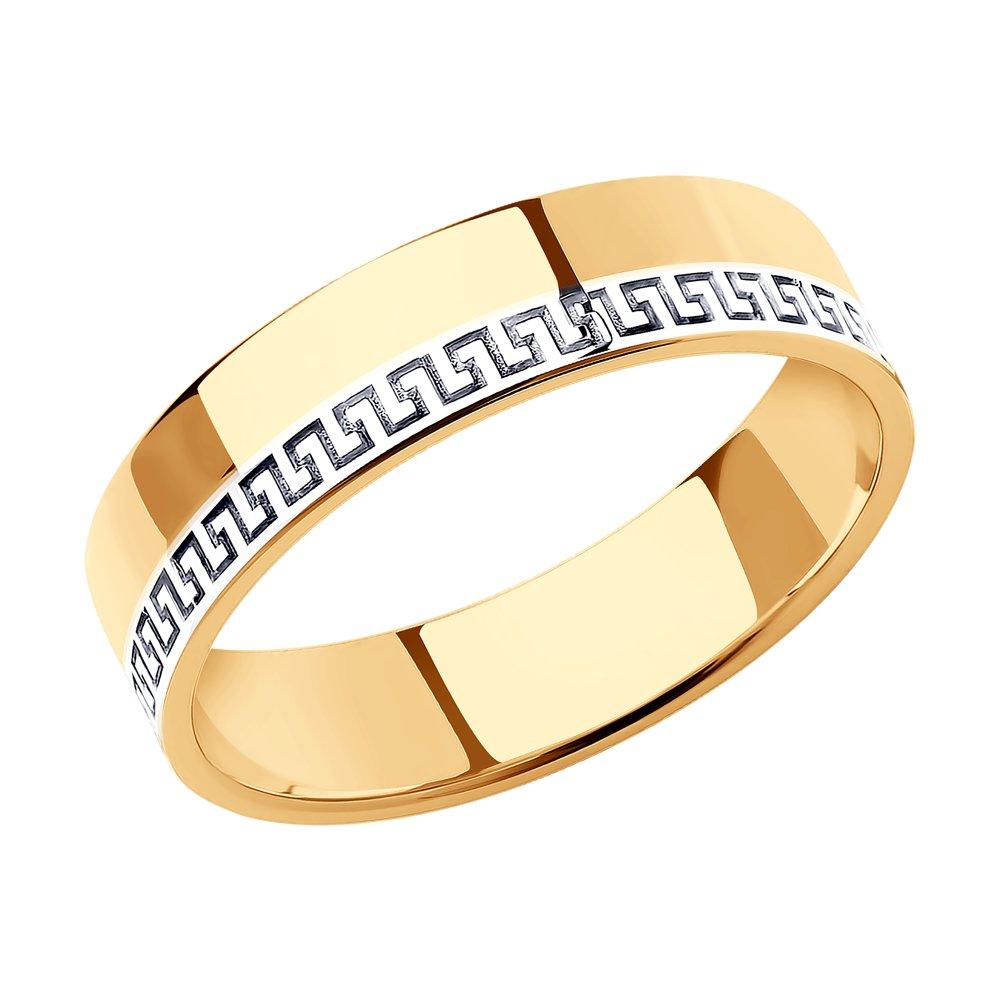 Обручальное кольцо из комбинированного золота SOKOLOV Арт К-1769