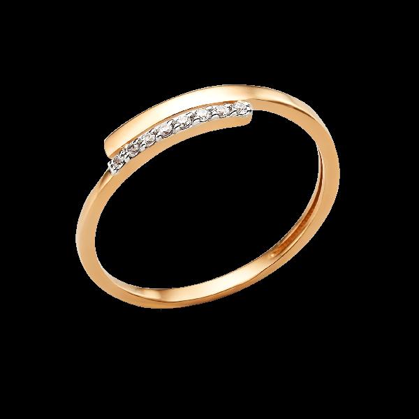 Кольцо из золота с фианитами DINASTIA Арт К-1724