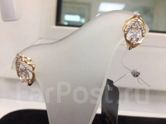 Серьги из золота с фианитами DINASTIA Арт С-1538