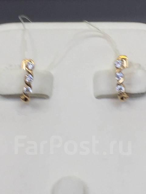 Серьги из золота с фианитами DINASTIA Арт С-1546