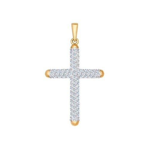 Крест из золота с фианитами арт п-669