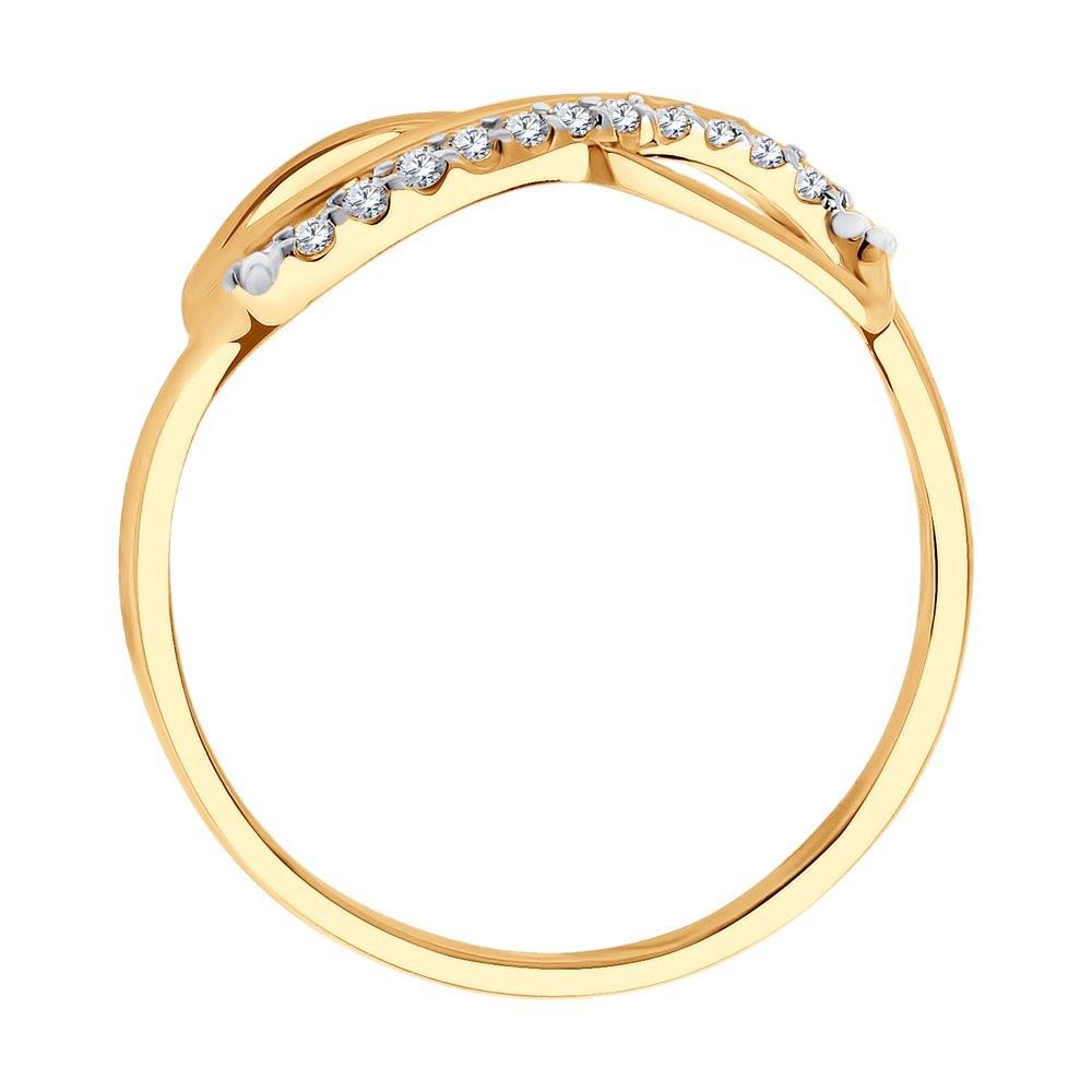 Кольцо бесконечность из золота с фианитами SOKOLOV Арт КЗ-137