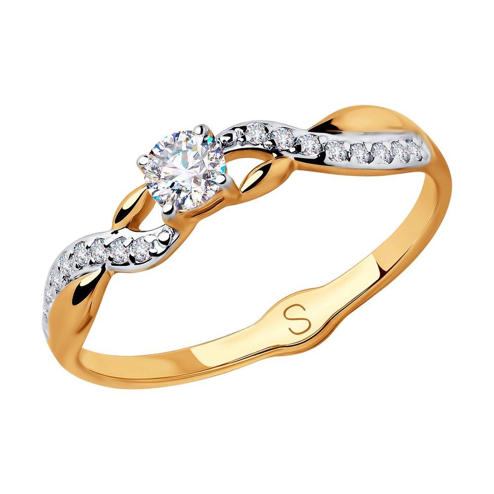 Кольцо из золота с фианитами SOKOLOV Арт КЗ-136