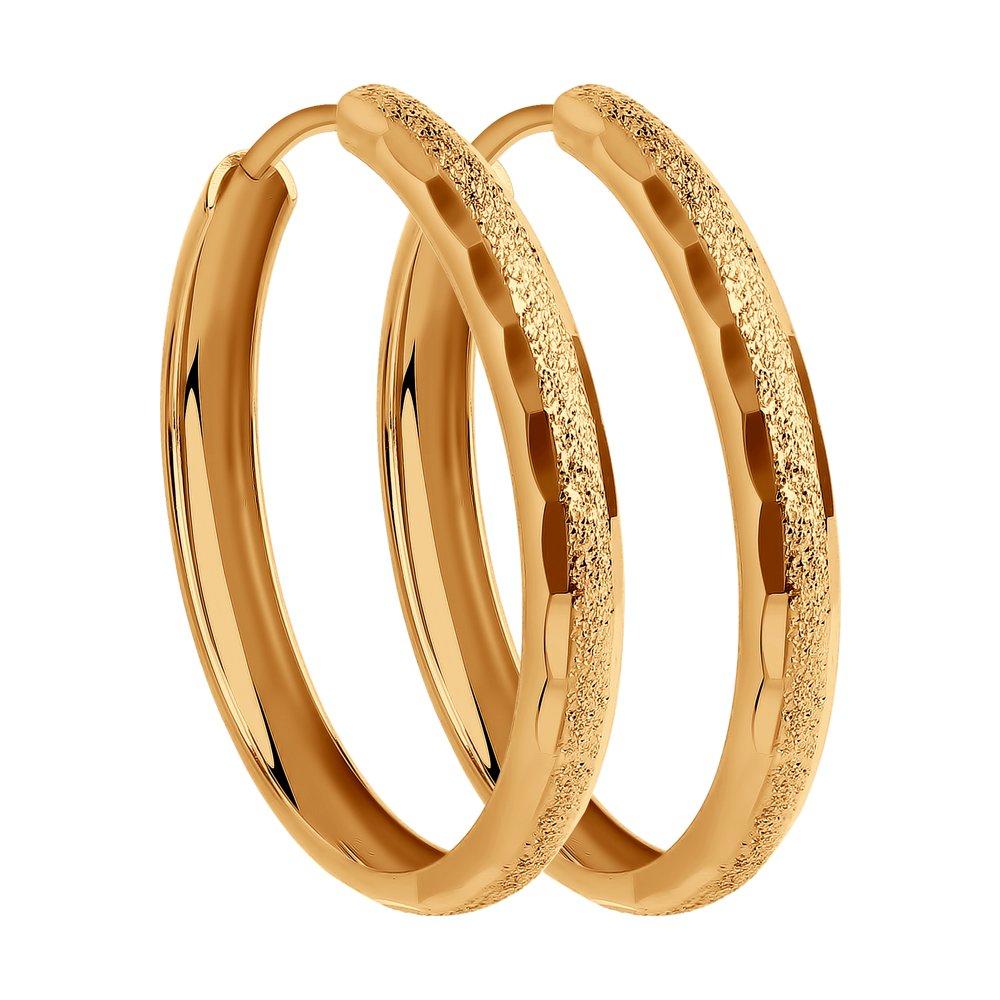Серьги конго из золота с алмазной гранью SOKOLOV Арт СЗ134