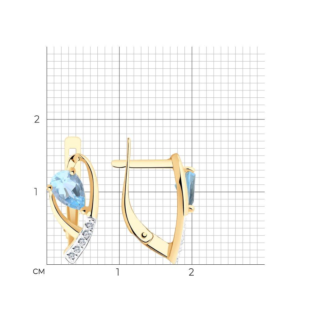Серьги из золота с топазами и фианитами SOKOLOV Арт СЗ-201
