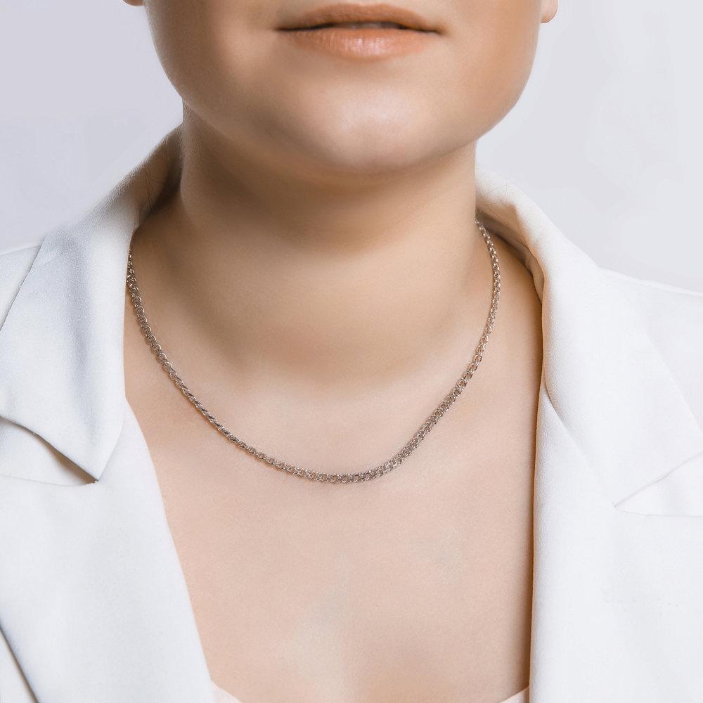 Цепь из серебра с алмазной гранью плетения «Бисмарк» SOKOLOV Арт ЦС-084