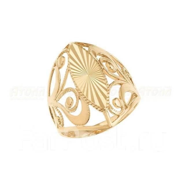 Золотое кольцо от Атолл арт К-1741