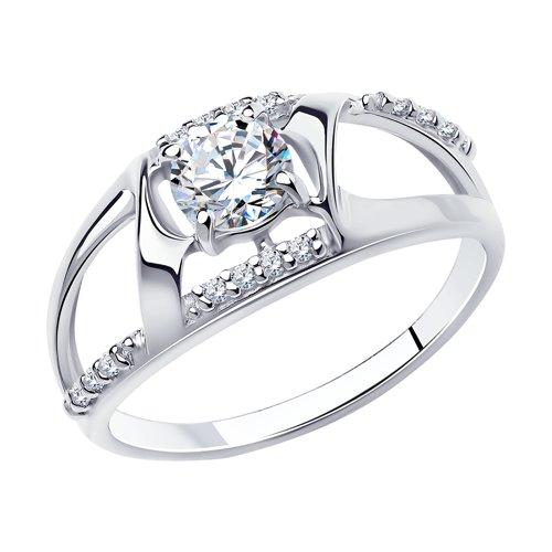 Кольцо из серебра с фианитами арт кс-385