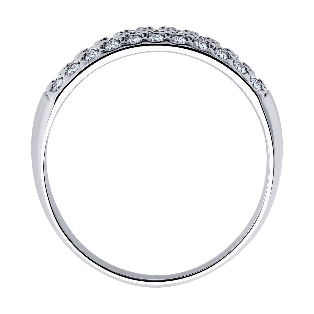 Кольцо из серебра с фианитами SOKOLOV Арт КС-387