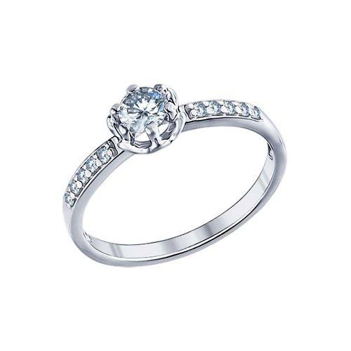 Помолвочное кольцо из серебра с фианитами SOKOLOV Арт КС-392