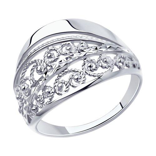 Кольцо из серебра с алмазной гранью SOKOLOV Арт КС-407
