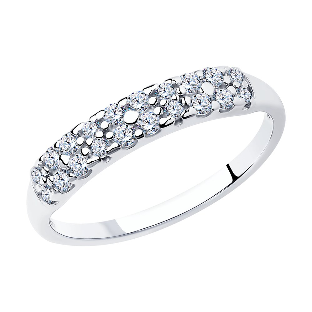Кольцо из серебра с фианитами арт кс-424