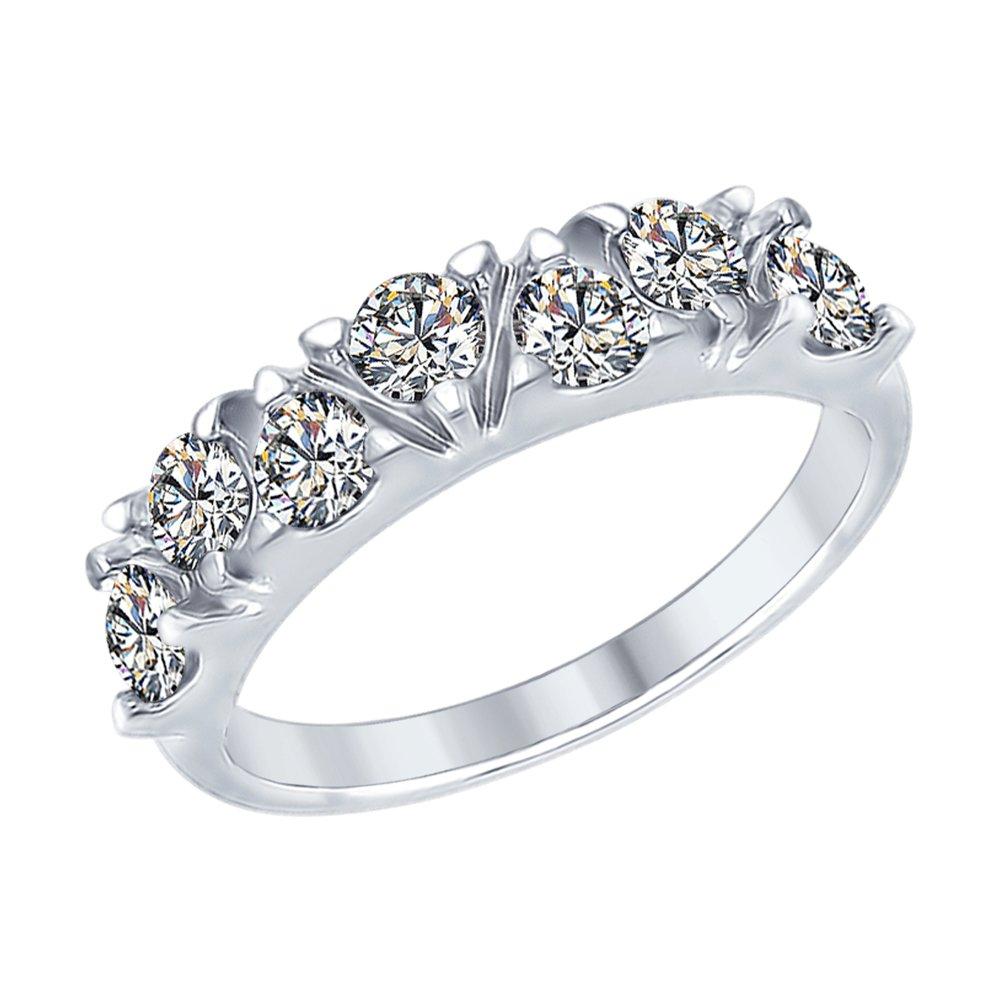 Кольцо из серебра с фианитами SOKOLOV Арт КС-425