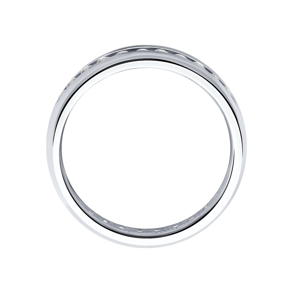 Обручальное кольцо из серебра с фианитами SOKOLOV Арт КС-429