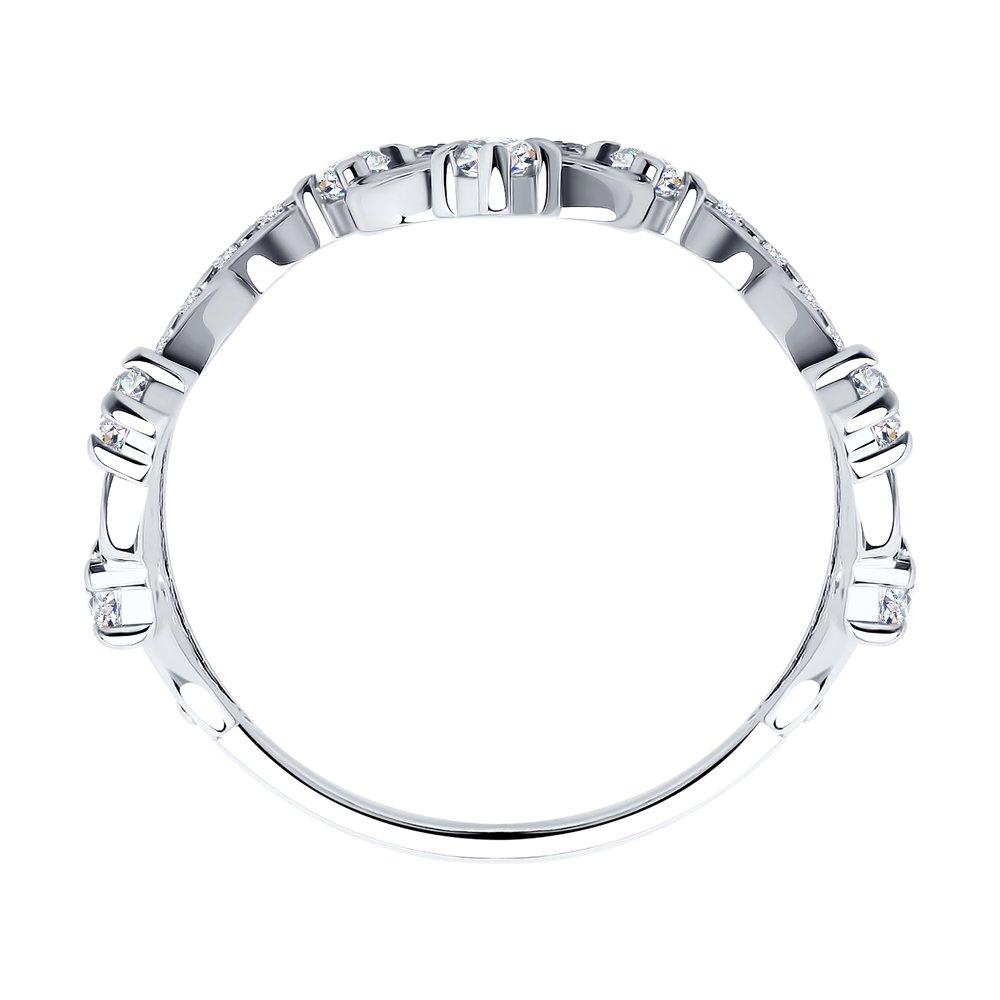 Кольцо в виде короны с фианитами SOKOLOV Арт КС-435