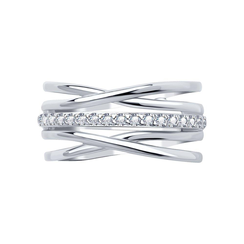 Кольцо из серебра с фианитами арт кс-438