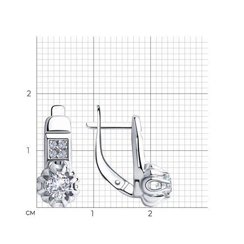 Серьги из серебра с фианитами SOKOLOV Арт СС-317