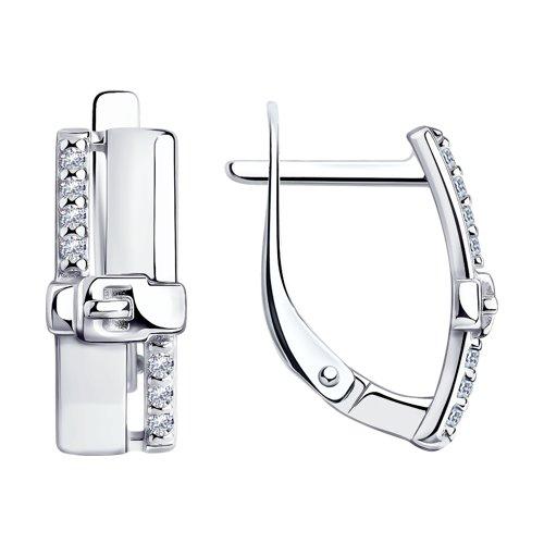 Серьги из серебра с фианитами арт сс-307