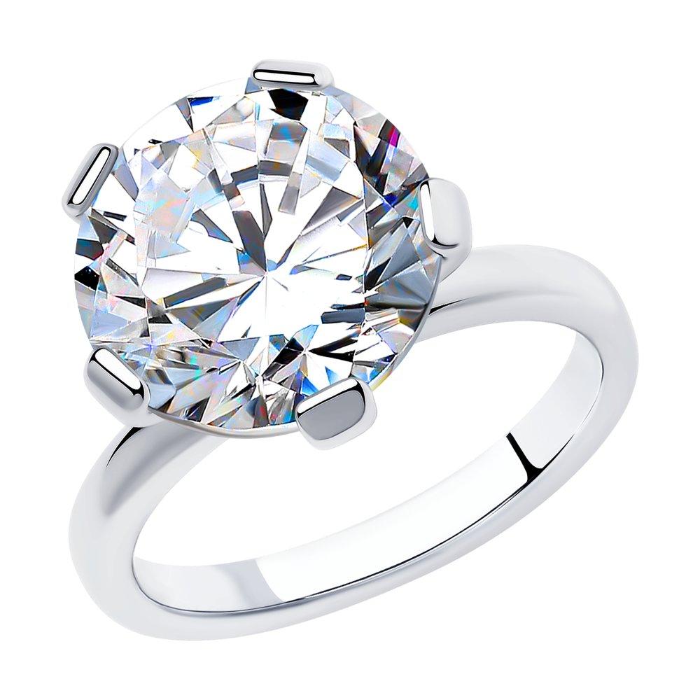 Кольцо из серебра с фианитом арт кс-398