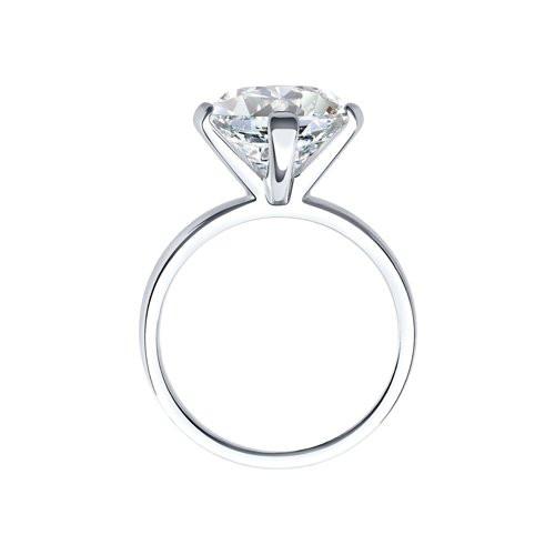 Кольцо из серебра с фианитом арт кс-399