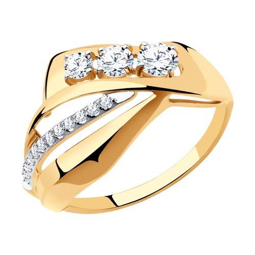Кольцо из золота с фианитами арт к-1974