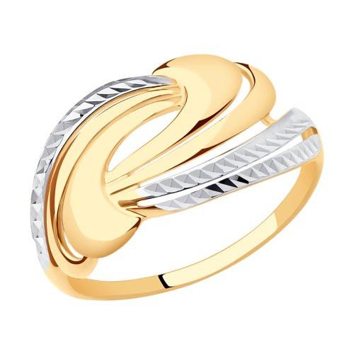 Кольцо из золота с фианитами арт к-1961