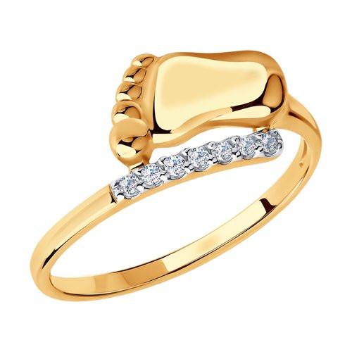 Кольцо из золота с фианитами арт к-1957