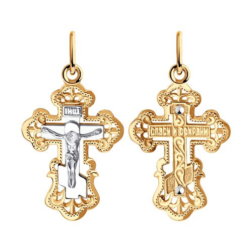 Крест из золота арт п-750