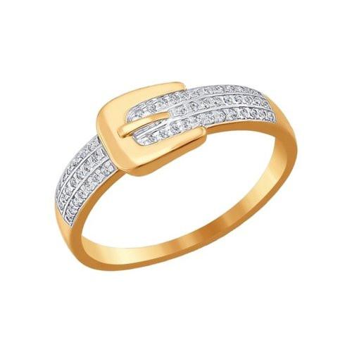 Кольцо из золота с фианитами арт к-695