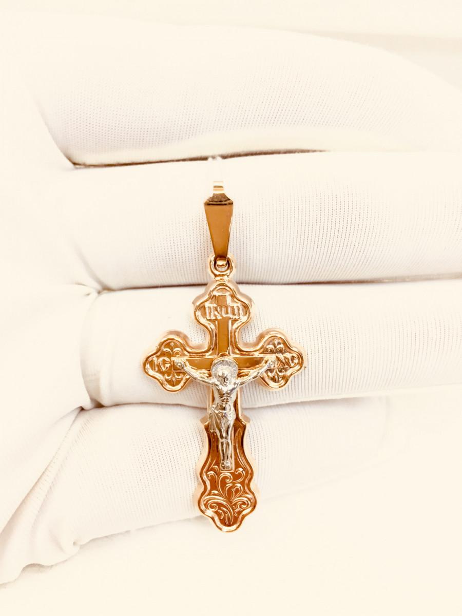 Крест из золота арт п-761
